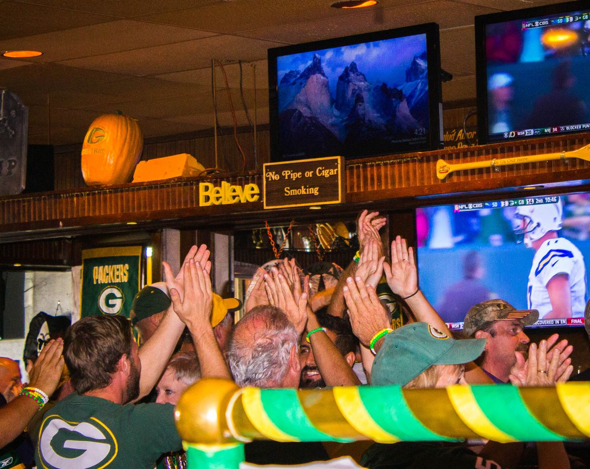 Vernon's Gastropub has become a Green Bay Packers paradise on Sundays during football season. Fans have chants for first downs and defensive plays.