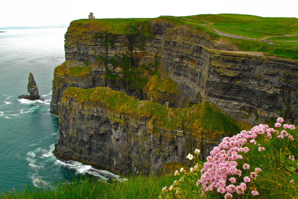 Ireland'•s Cliffs of Moher are among the most dramatic sites along the Wild Atlantic Way. C
