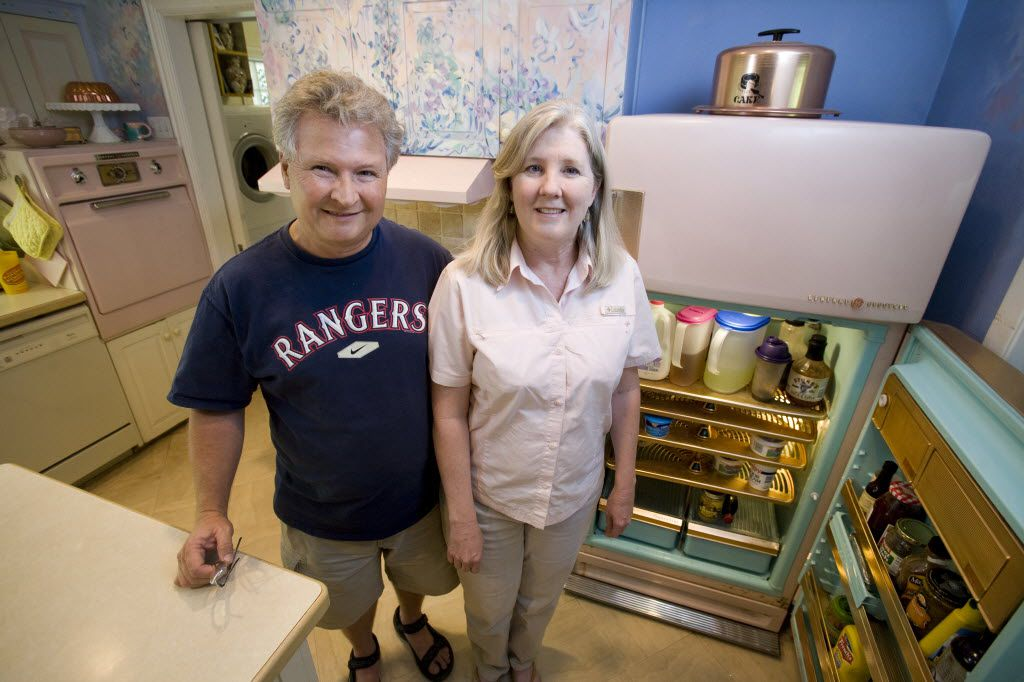 Lee and Melissa Higginbotham own a working vintage 1956-57 GE fridge and a GE stove and oven which came with the house they bought over 20 years ago.