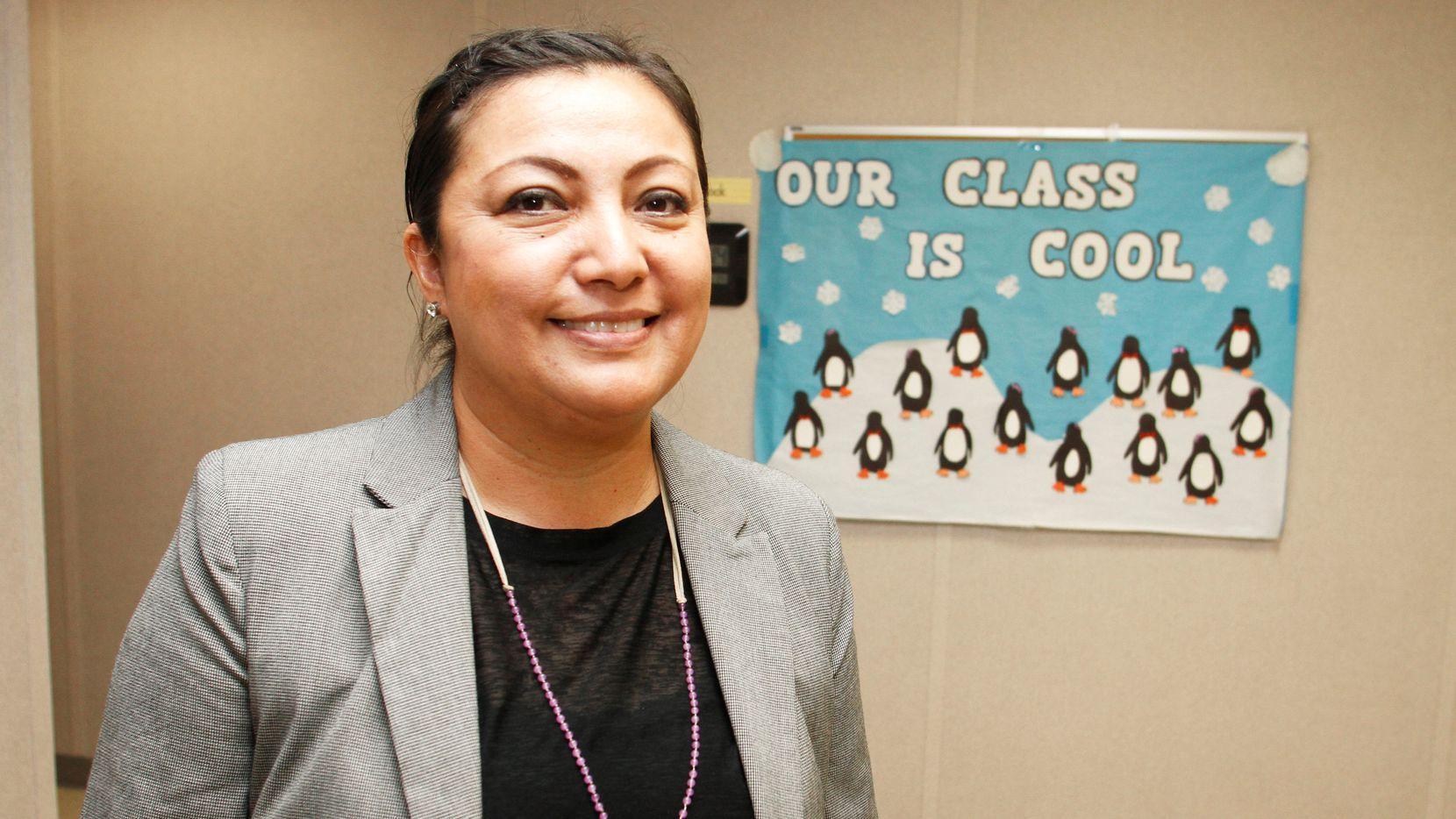 María Reza es coordinadora del programa de enlace con los padres de Bachman Lake Together en el norte de Dallas. (DMN/BRIAN ELLEDGE)