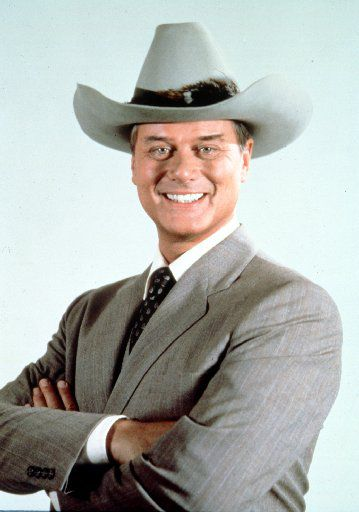 In this 1981 file photo originally provided by CBS, Larry Hagman, is shown in character as J.R. Ewing.