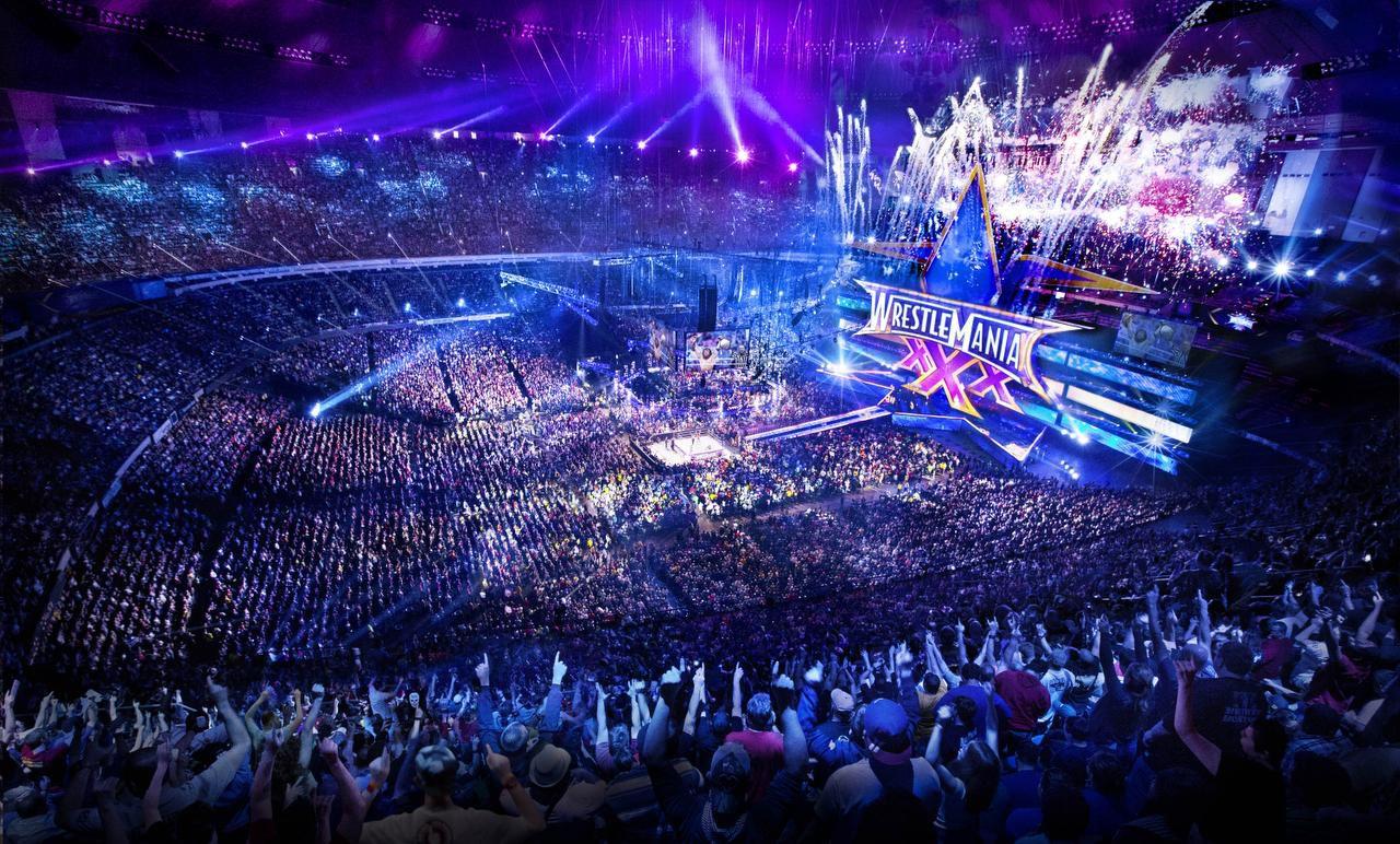 El WretleMain 30 se llevó a cabo en el Mercedes-Benz SuperDome en San José, California. En abril el evento se realizará en el AT&T Stadium en Arlington. (WWE/CORTESÍA)