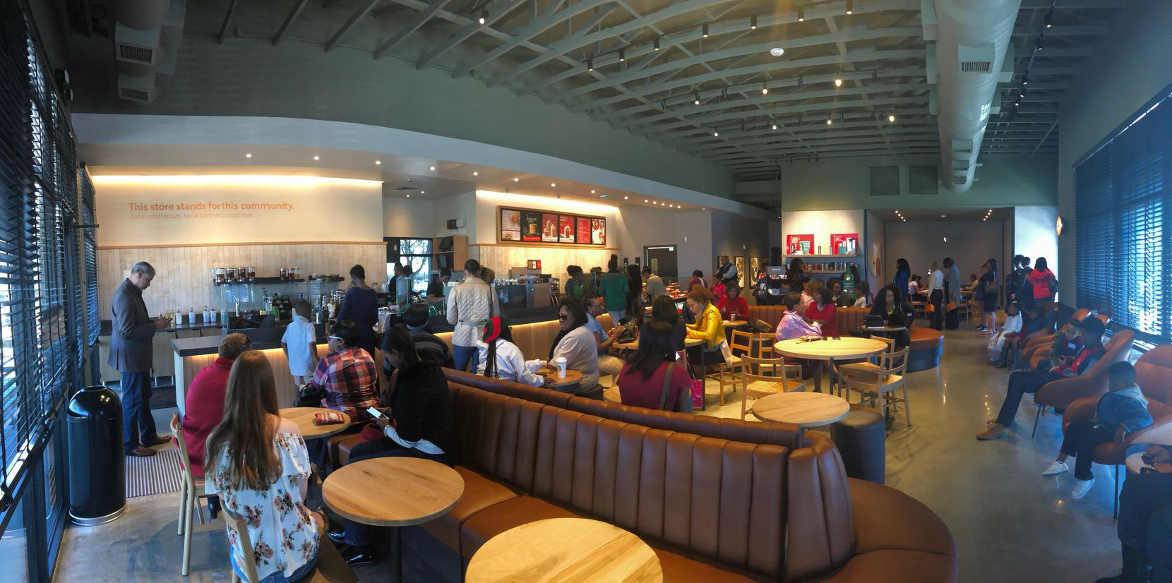 The Red Bird Starbucks was hopping Sunday afternoon when customer and Dallas  businessman Randy Bowman stopped by.
