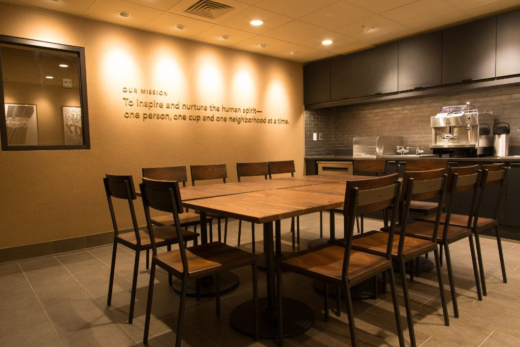 Starbucks opened this store with a training center attached in the Jamaica neighborhood of Queens, New York in March 2016.  The store is the first one of about 15 that Starbucks is opening in low- and middle-income neighborhoods.