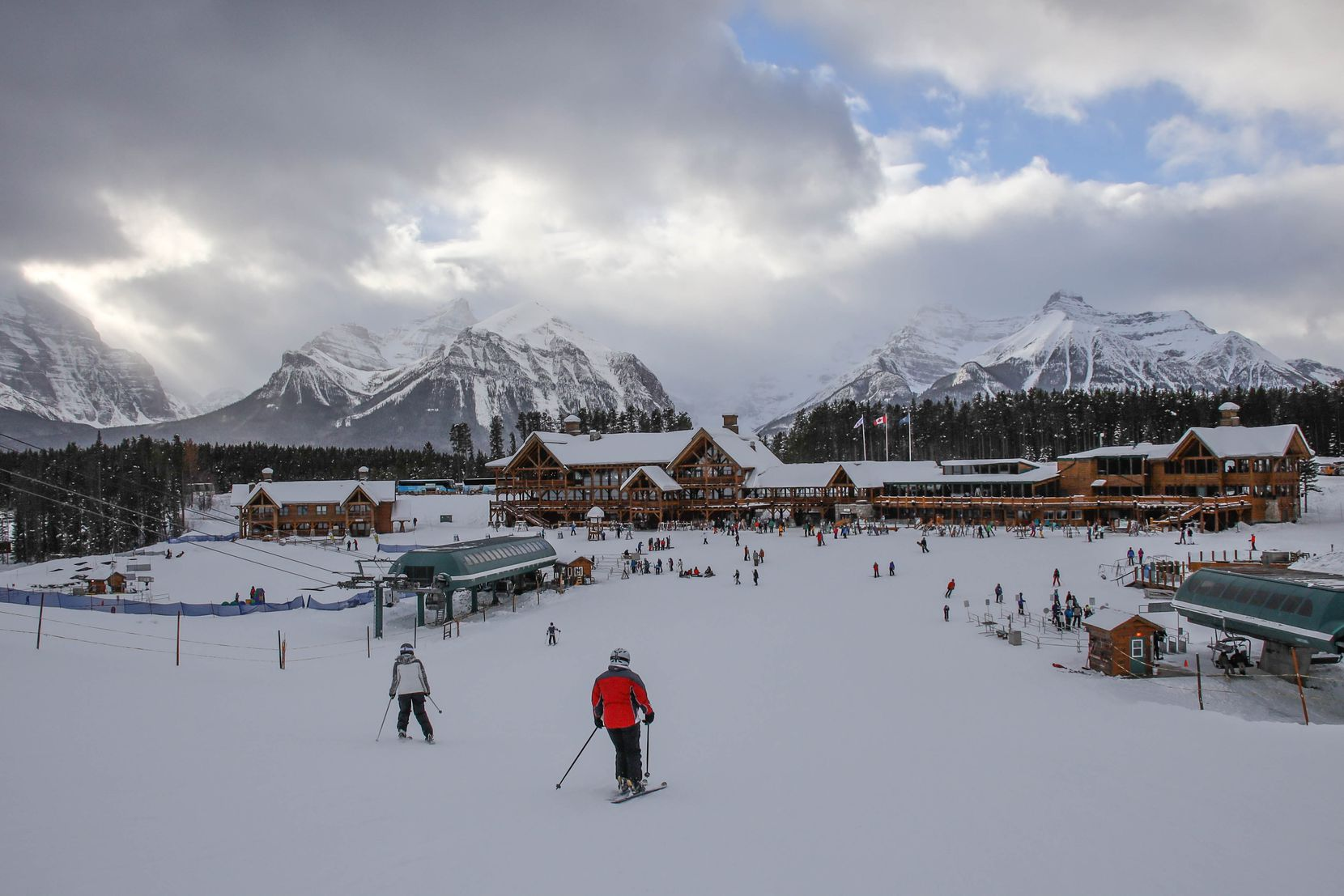 Lake Louise Ski Resort is one of three major ski resorts in Banff National Park.
