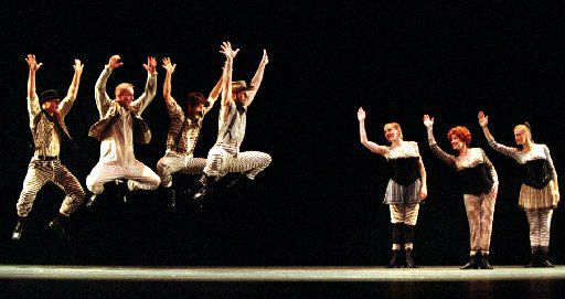 The Paul Taylor Dance Company performs the world premiere of the new work Dream Girls at the Eisemann Center in Richardson in 2002.