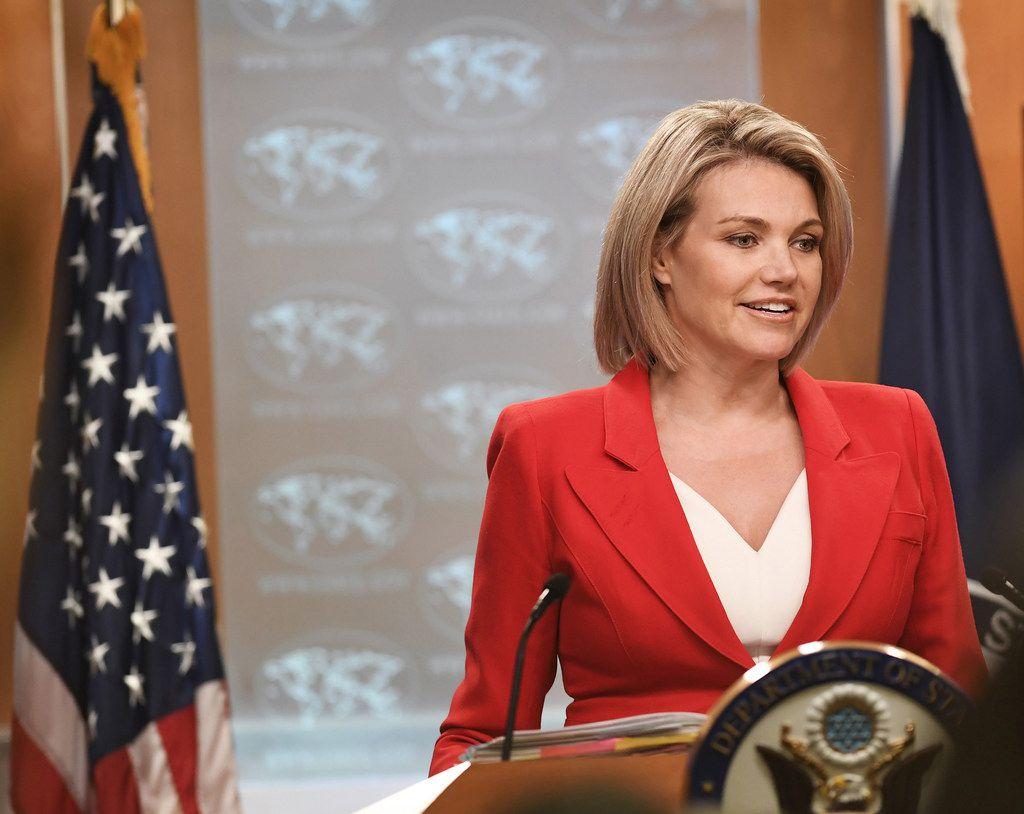 U.S. State Department spokeswoman Heather Nauert held a press briefing Oct. 2 in Washington D.C.