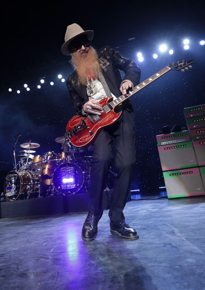 Billy Gibbons of ZZ Top performs Saturday at Toyota Music Factory.
