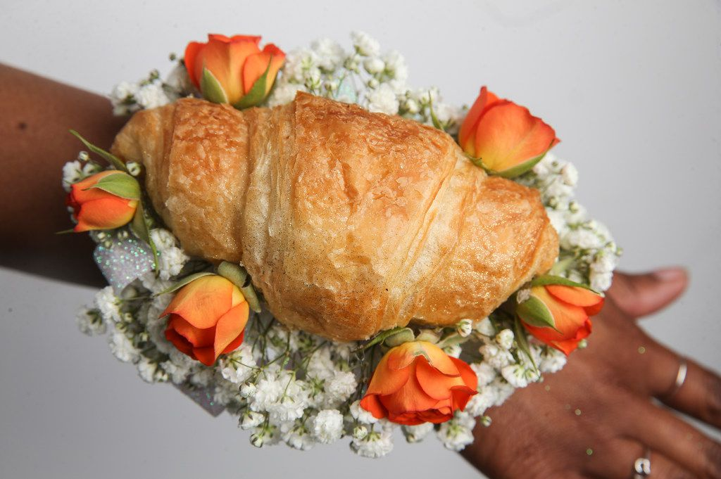 Cheddar's Scratch Kitchen has partnered with Petals and Stems in Dallas to sell croissant corsages for prom.