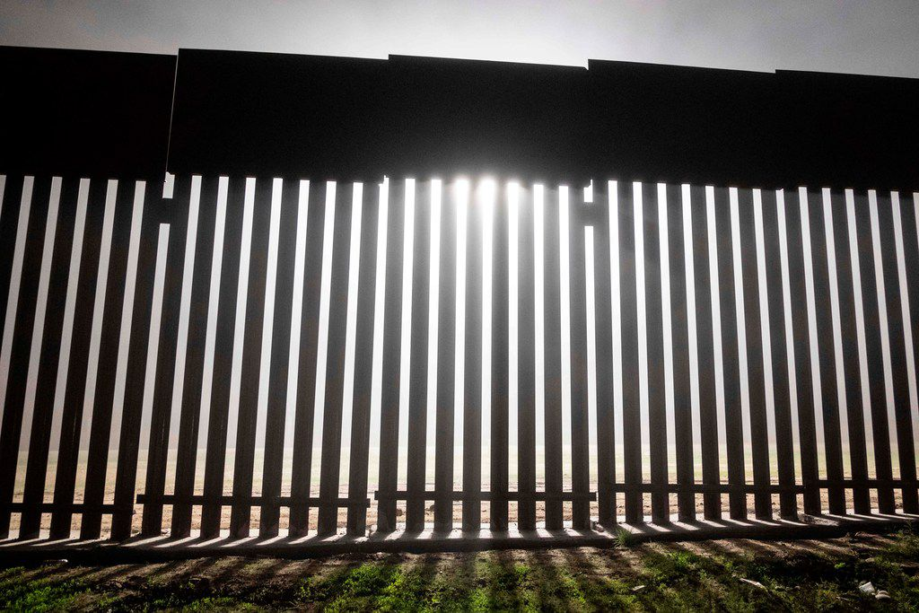 A reinforced section of the US-Mexico border fence is seen from Tijuana, Mexico.