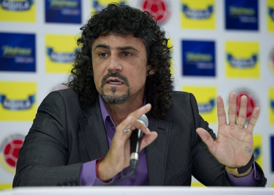 Former Colombian national head coach Leonel Alvarez speaks during a press conference in Bogota, on September 8, 2011 after being appointed as head of the national squad.