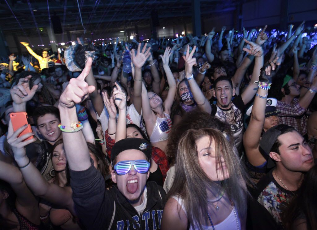 Guests dance during the Lights All Night festival at the Dallas Convention Center in Dallas, TX, on Dec. 26, 2014. (Jason Janik/Special Contributor)