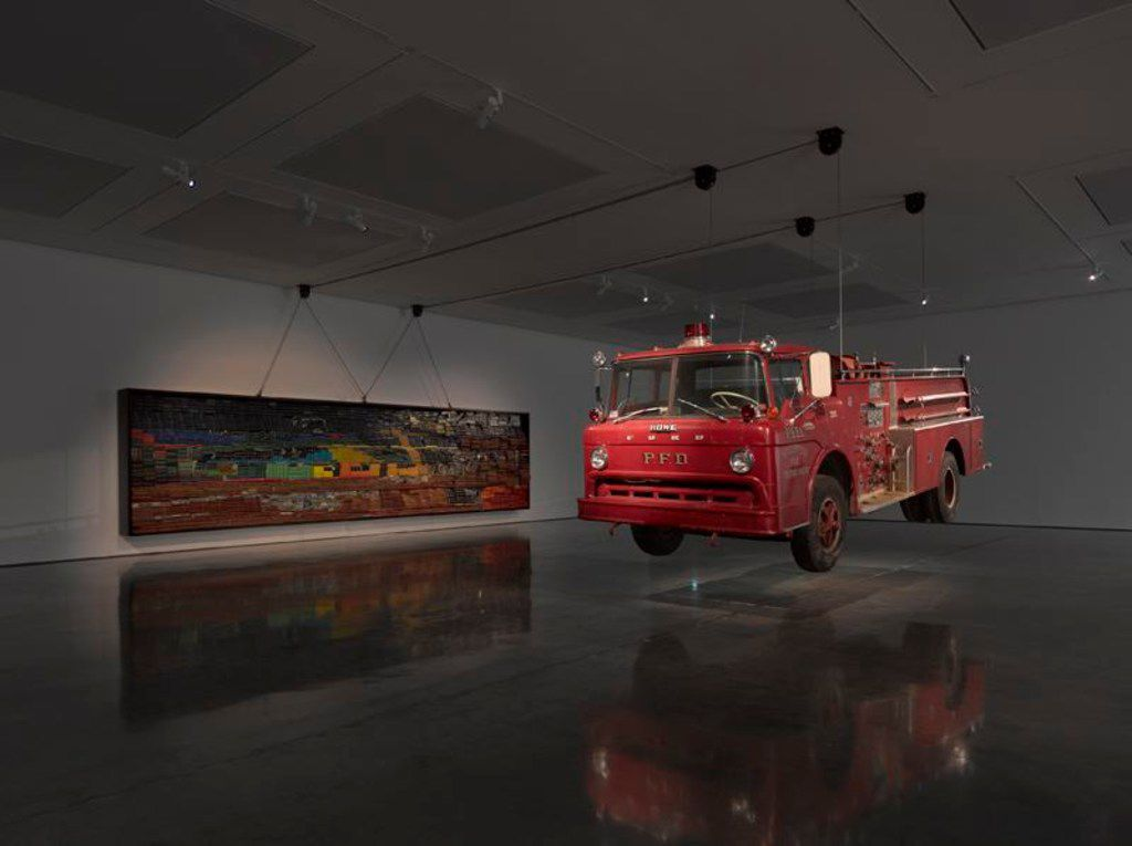 Raising Goliath, a piece created by Nasher Prize winner Theaster Gates.