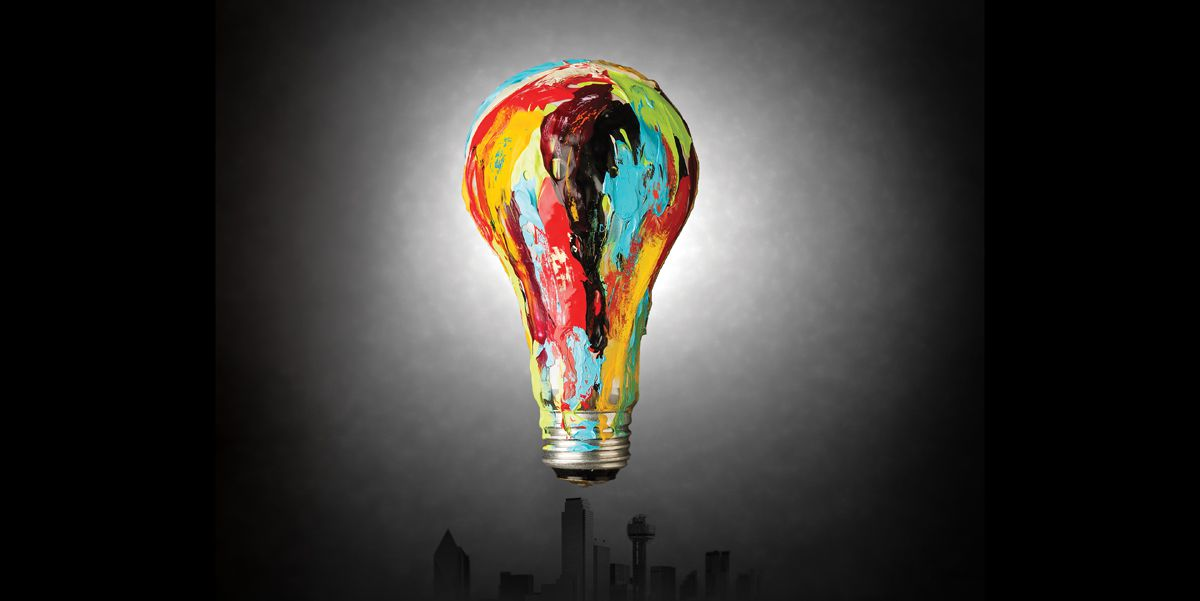 Painted light bulb by Michael Hogue photographed in The Dallas Morning News studio on Thursday, March 23, 2017, in Dallas. (Smiley N. Pool/The Dallas Morning News)