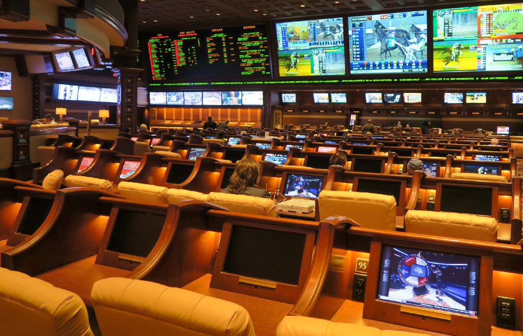 The race and sports book at the Wynn Las Vegas.
