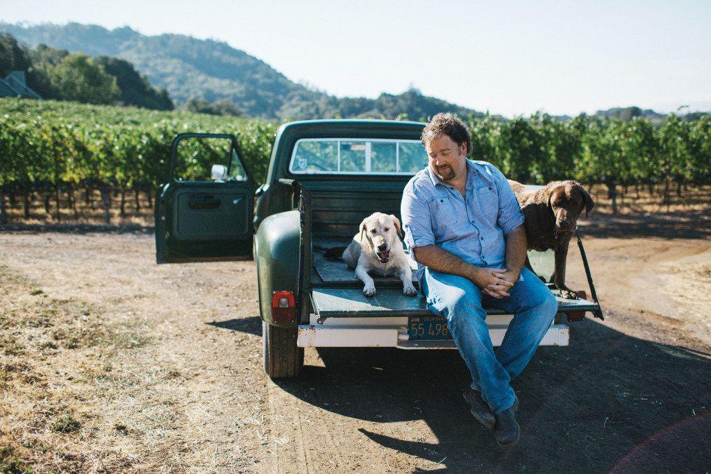 Tom Gore of Tom Gore Vineyards in his vintage truck