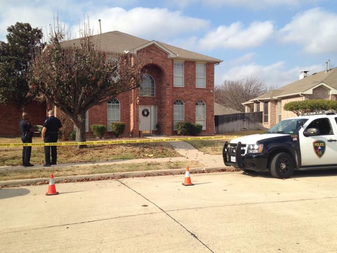 Plano police executed a search warrant at Enrique Arochi's house in Allen on Saturday and also towed his car. The home was surrounded by crime tape for most of the day.
