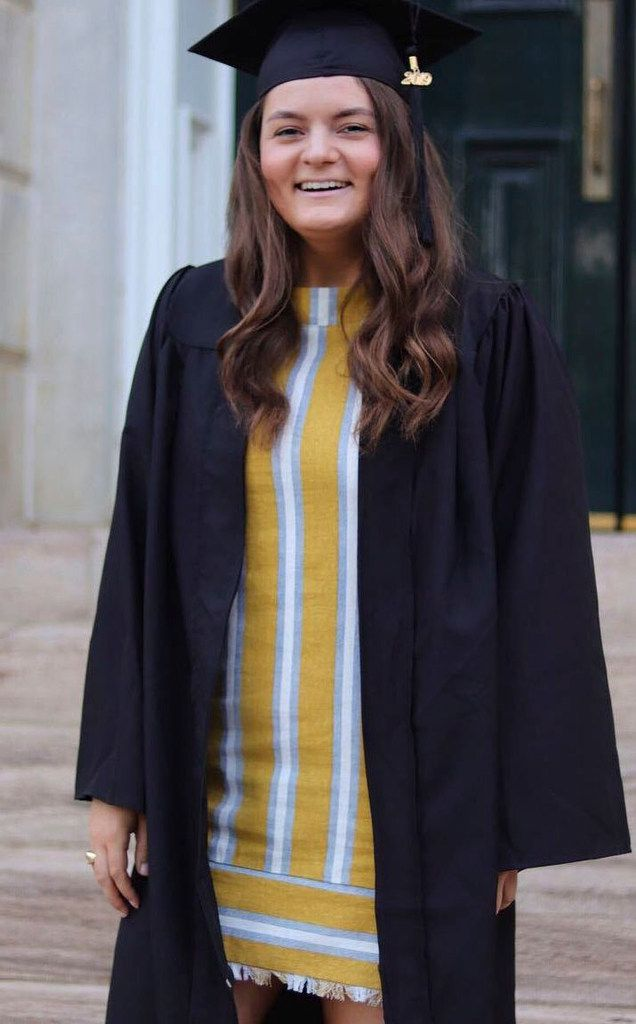 Sara Hudson, 22, is shown in her Facebook profile photo posted in May 2019 for her college graduation.