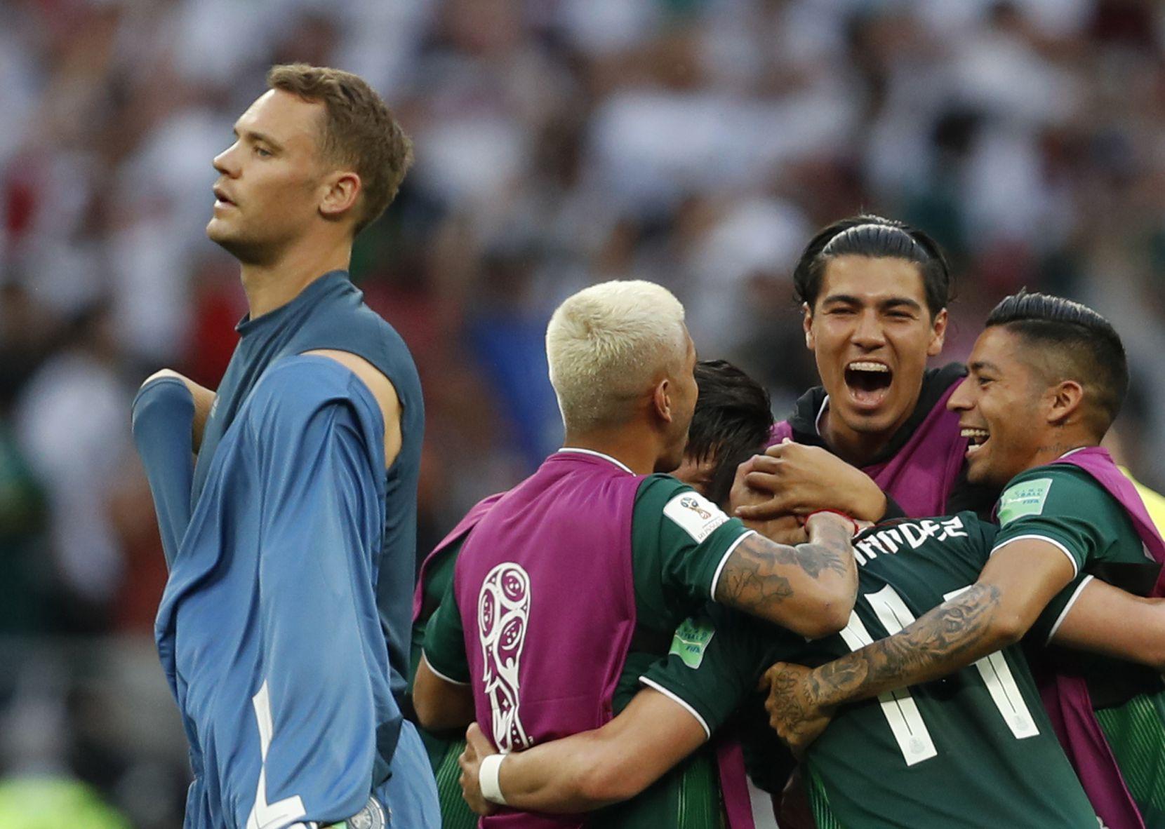 México venció 1-0 a Alemania en el Mundial. Foto AP