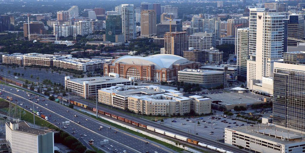American Airlines Center, which included $125 million in taxpayer money, reclaimed a polluted site near downtown and helped spur over $1.5 billion in nearby development. (Jae S. Lee/The Dallas Morning News)