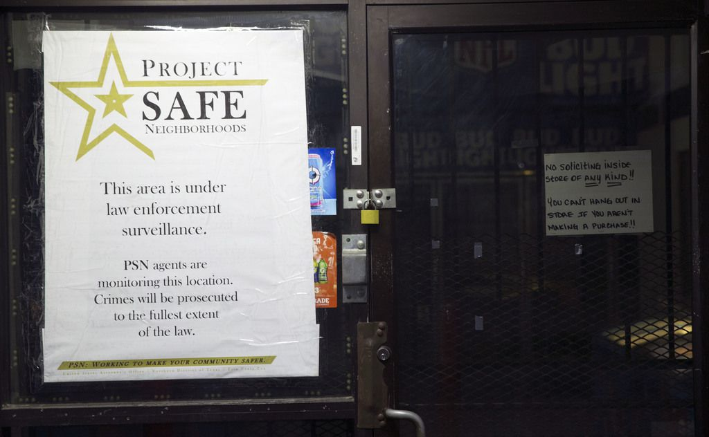 Last week, the feds posted a Project Safe Neighborhood sign at J's Food Mart, which closed Oct. 2
