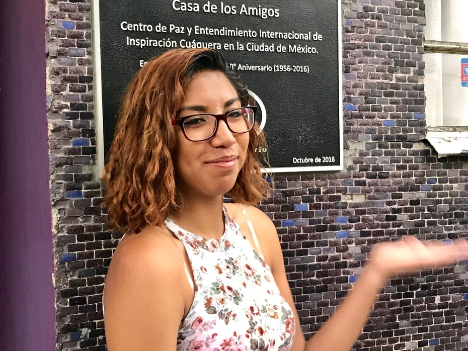 Jeimmy Leyva, one of tens of thousands of Mexicans deported in recent years, walked through a Mexico City neighborhood that included a home for refugees.