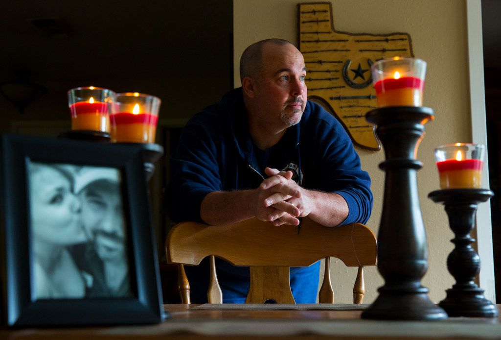 Richard Ford stands by his dining room table in his home in Cypress on Nov. 10, 2017. In 2014, Ford's daughter died from using a toxic pain cream from a Houston compounding pharmacy called Diamond Pharmacy.