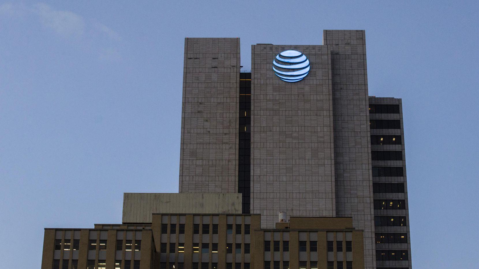 Edificio sede de AT&T en el centro de Dallas. (DMN/ASHLEY LANDIS)