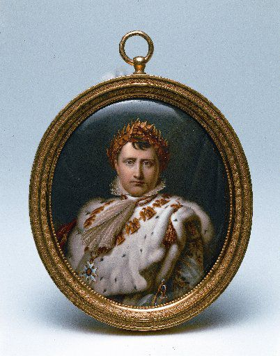 A portrait of Napoleon by Jean-Francois Soiron (1756-1813) displayed in an exhibition at Somerset House in 2007.