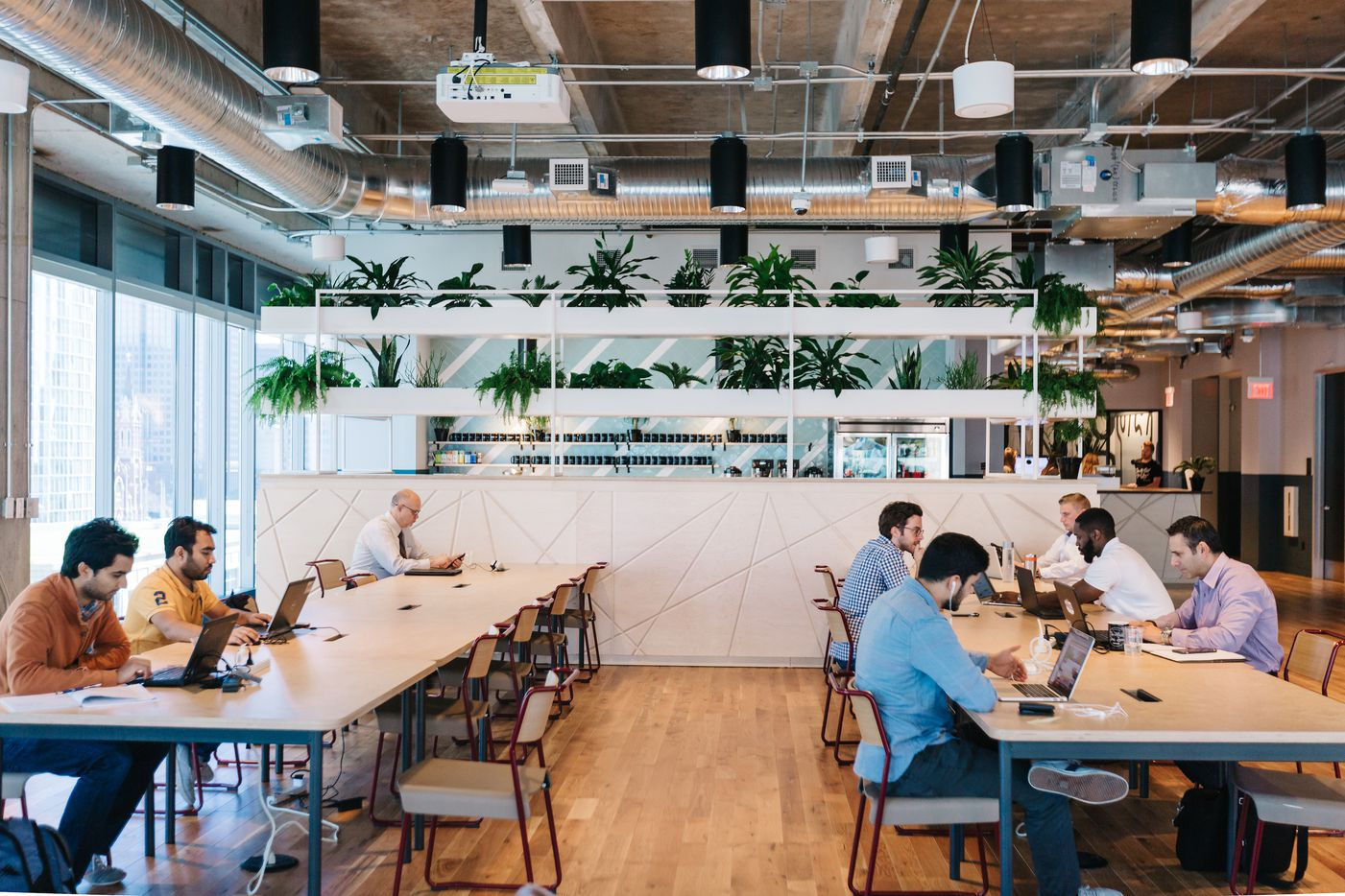 WeWork's McKinney Avenue location in Dallas' Uptown district has offices on two floors.