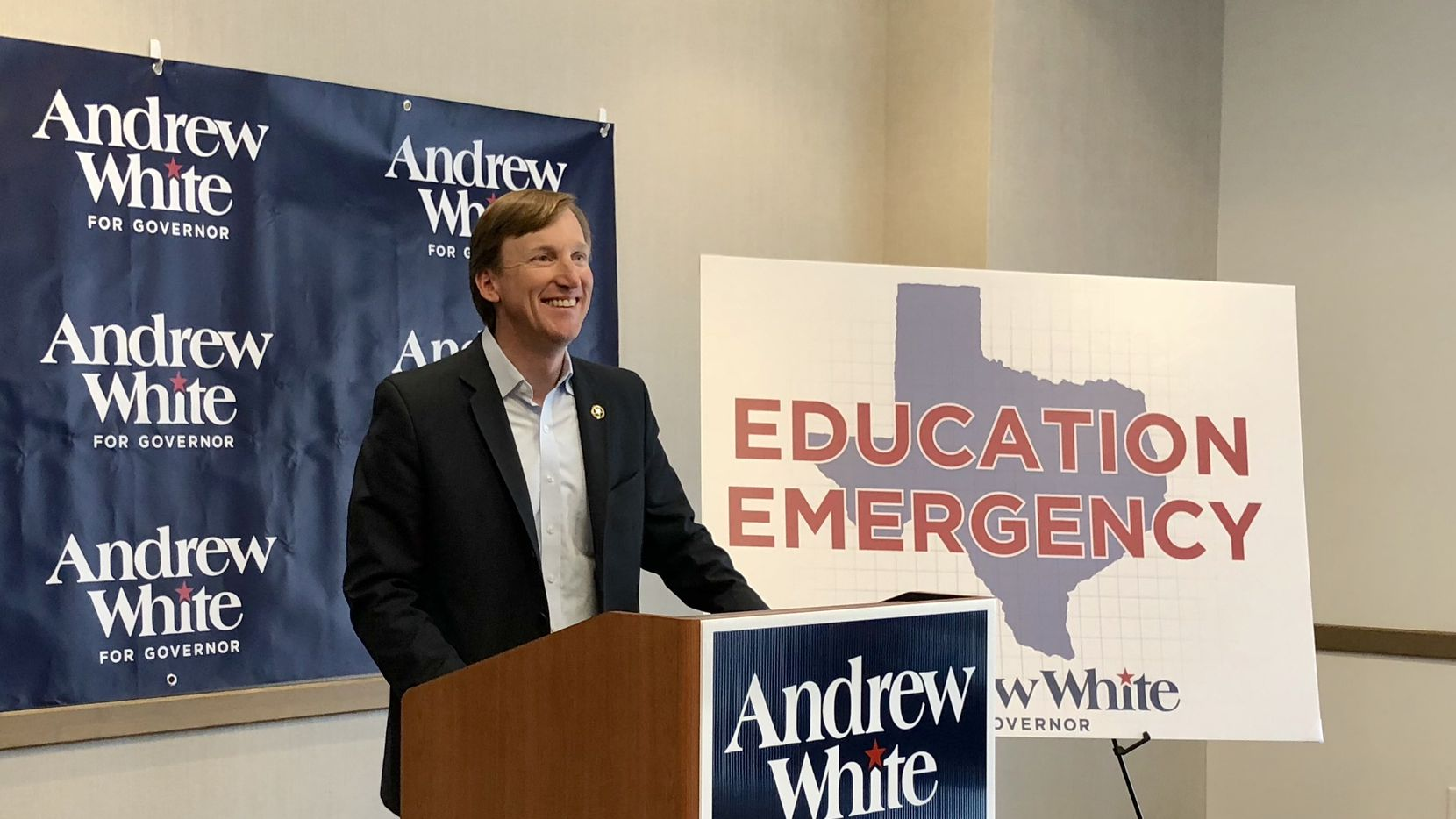 Andrew White, who is facing former Lupe Valdez in the Democratic primary runoff governor, has proposed expanding casinos and horse racing to help fund education.