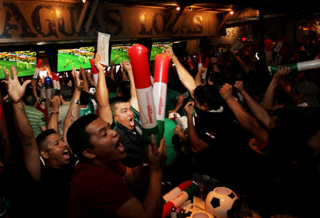 Ojos Locos in Dallas is always a hot spot to watch Mexico's World Cup matches.