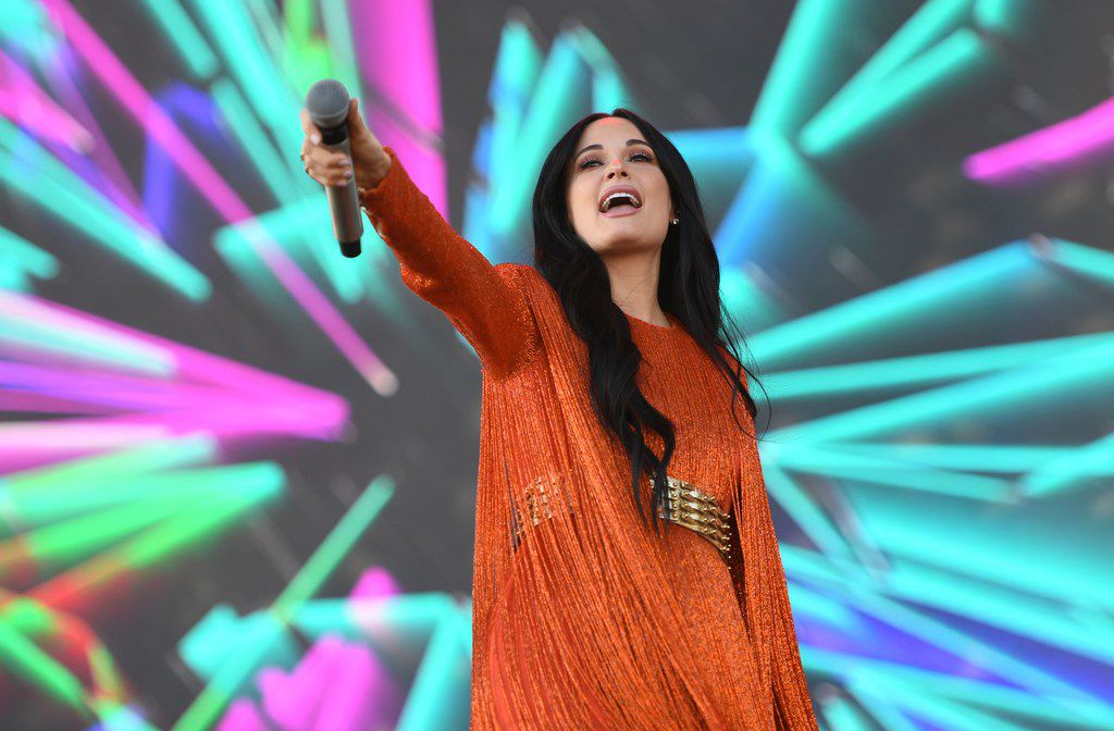 Kacey Musgraves performs on stage at Coachella Music Festival on April 12, 2019 in Indio, California.