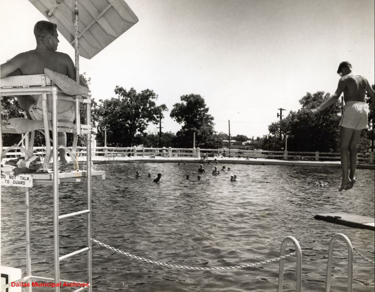 A photo of Fair Park's pool that closed in 1959.