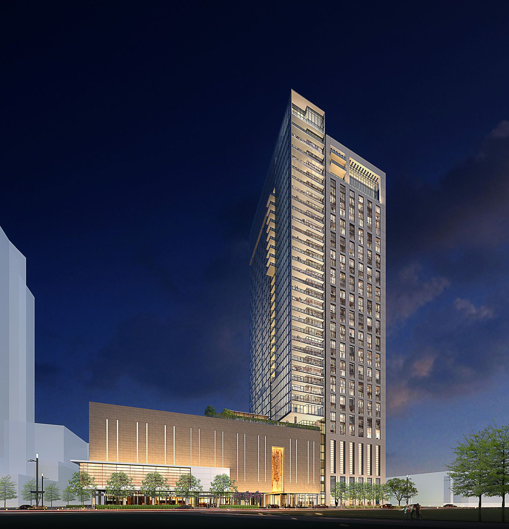 At 39 floors, The Victor apartment tower will be one of the tallest Dallas buildings outside of downtown.