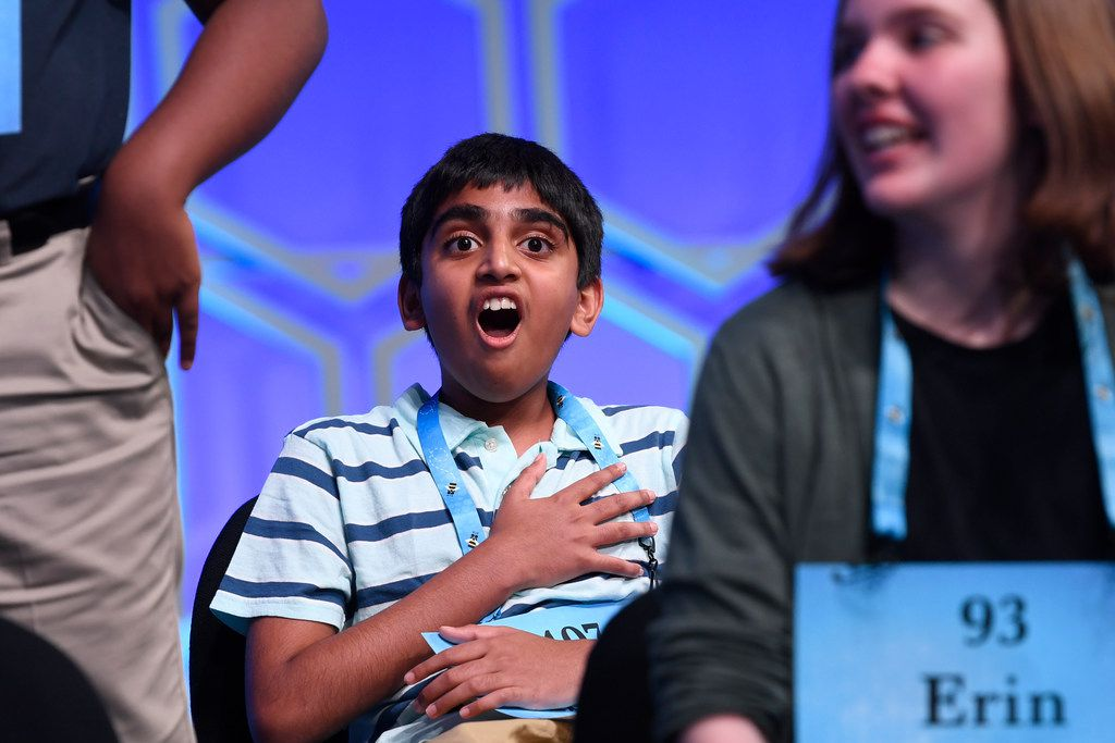 Abhijay Kodali, 12, of Flower Mound got a shock when he was named one of eight co-champions in the national bee.