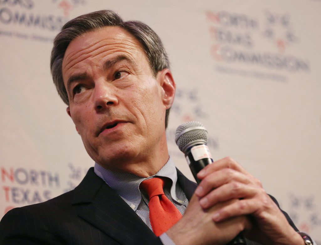 Texas House Speaker Joe Straus attended Monday's North Texas Commission meeting in Irving.