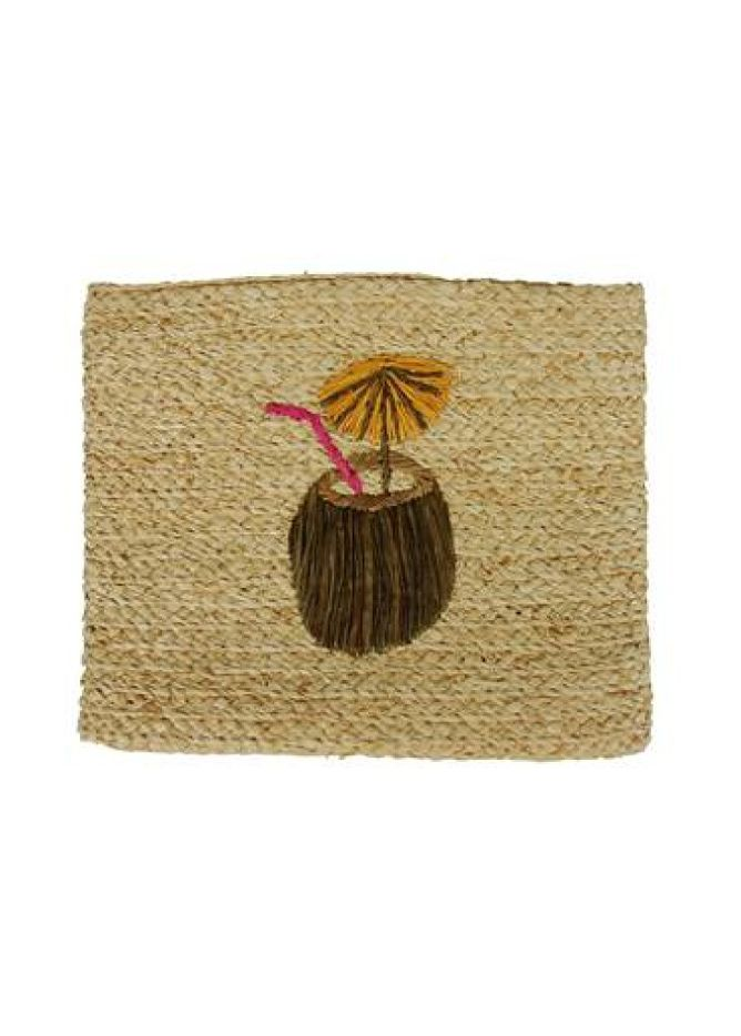 Whimsical coconut clutch, $78, hatattack.com
