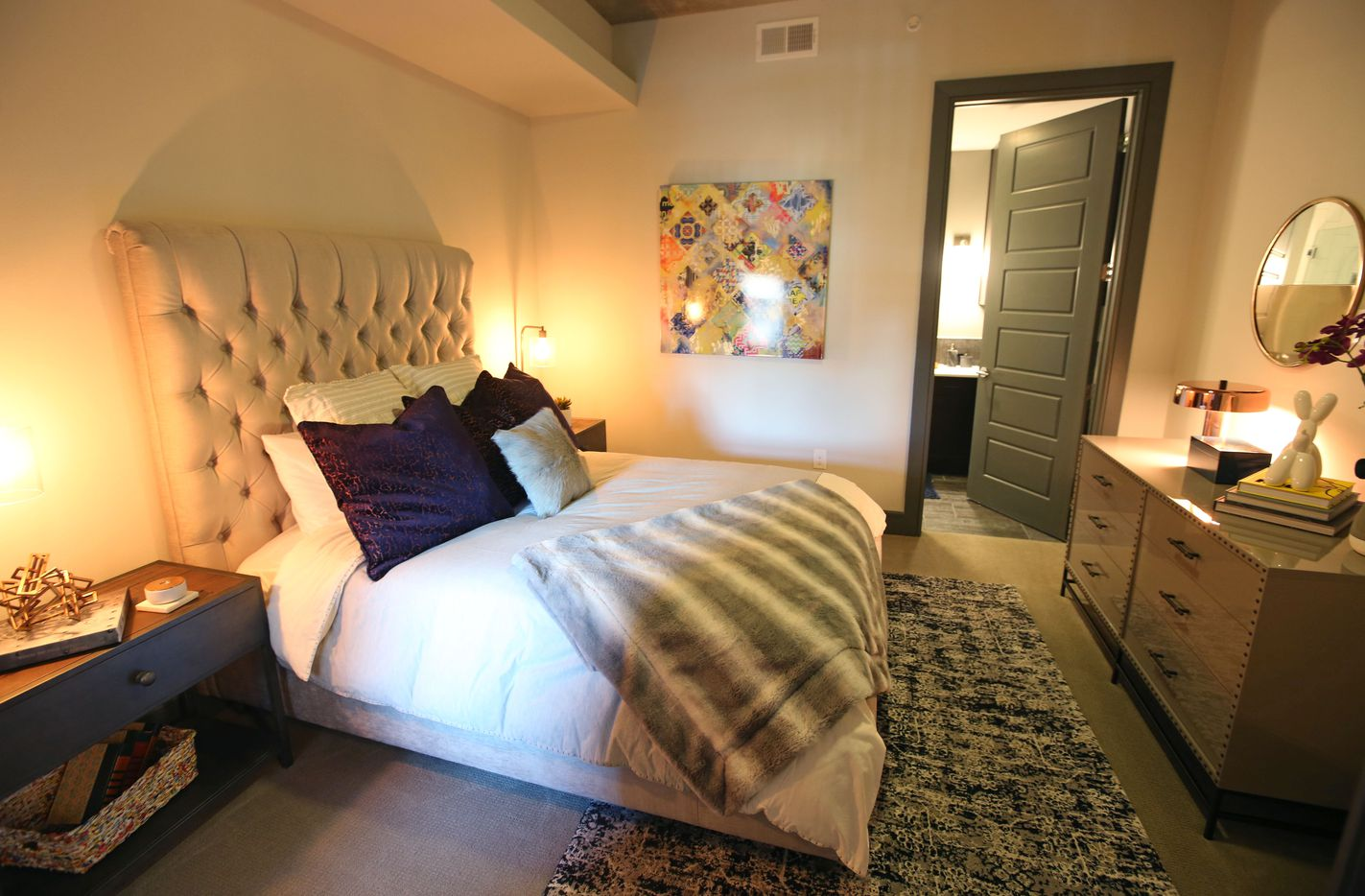 A look at a two-bedroom unit at the Case Building at  3131 Main St. in Deep Ellum in Dallas.