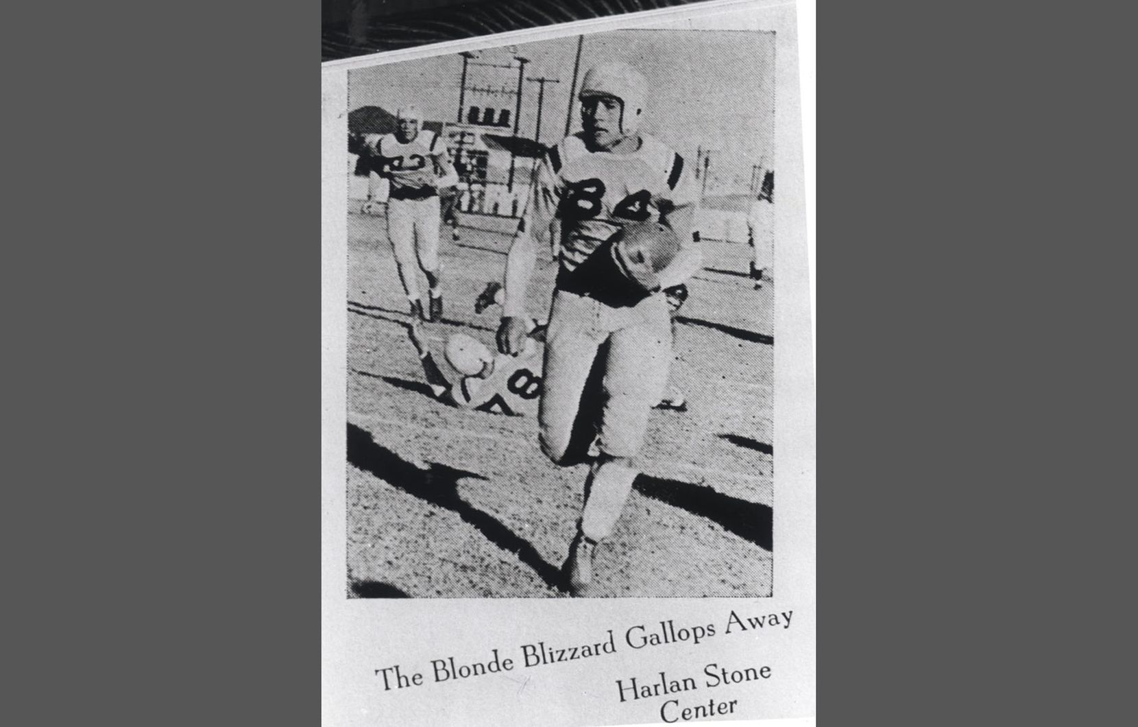 Undated -- Bobby Layne playing for Highland Park High school in 1943.