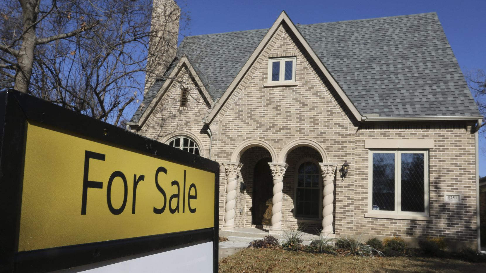 Una casa a la venta en las M Streets de Dallas. (DMN/RON BASELICE)