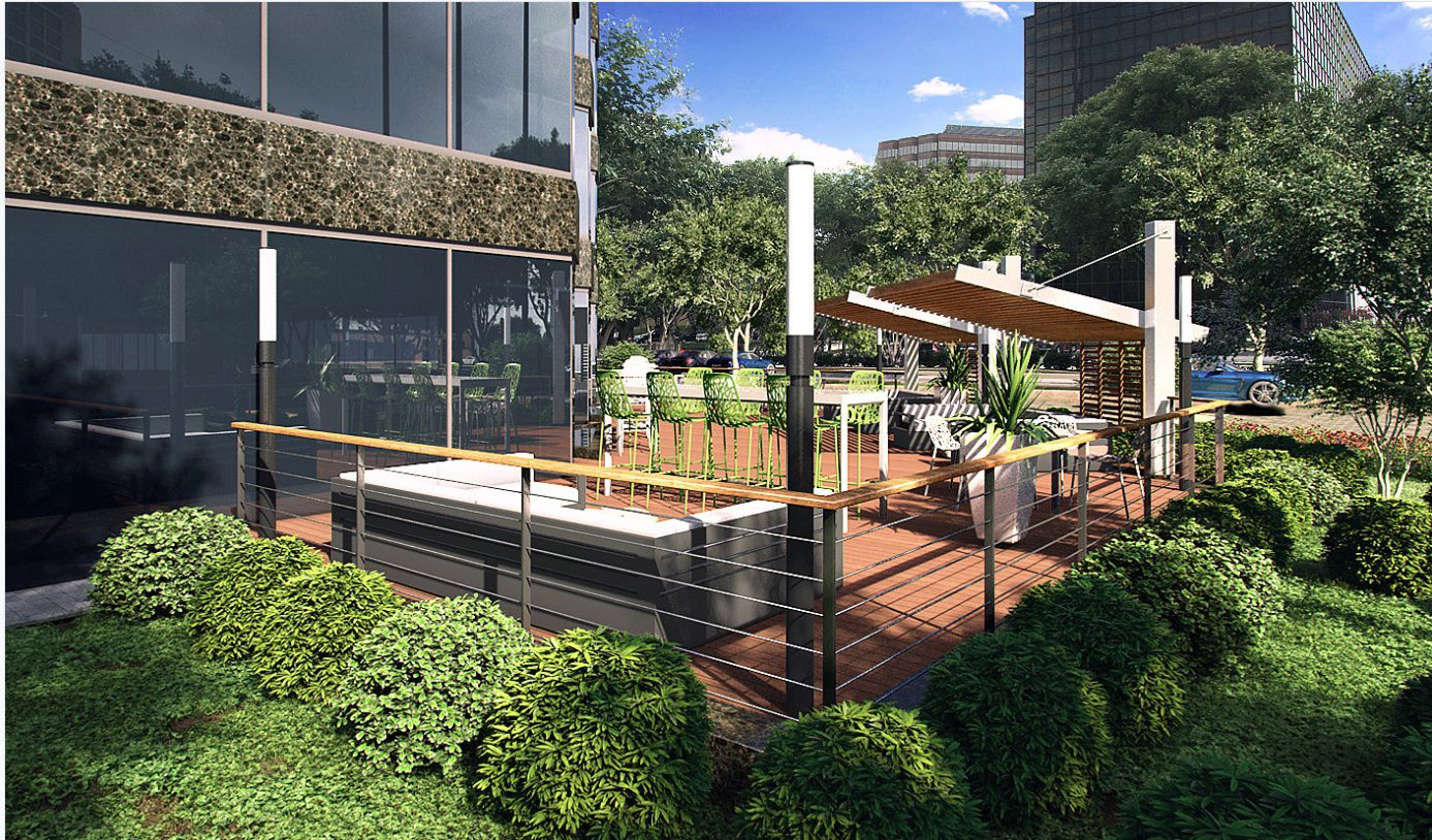 Outdoor deck area planned at Pinnacle Tower.