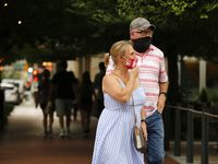 "As three single-day records related to coronavirus were set Thursday, Abbott acknowledged that the statewide mask order he issued last week is unpopular. But he said people simply must become familiar with ""the severity of COVID-19 right now"" in Texas and, like the people shown walking in downtown Fort Worth last week, wear masks."
