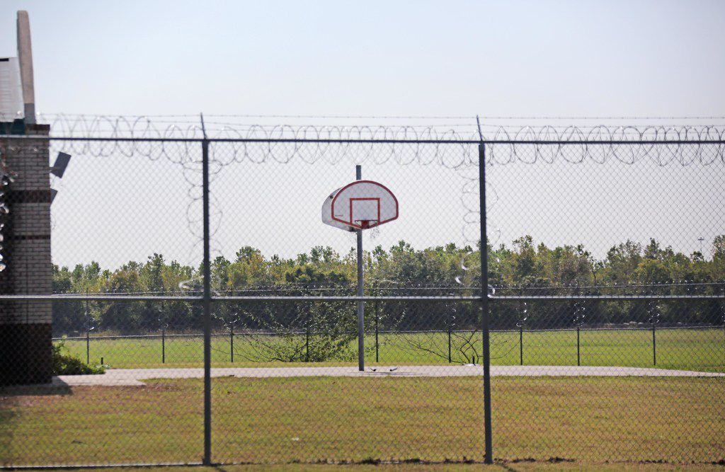 State regulations require Medlock to have outdoor recreation areas, such as basketball courts.