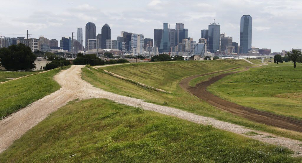 A photo of the Trinity River corridor, where the planned Trinity Parkway toll road will be built, between the river and the eastern levee, photographed on Friday, July 18, 2014.  (Louis DeLuca/The Dallas Morning News)