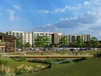 A rendering from Merriman Anderson Architects shows the hotels planned at Epic Central in Grand Prairie.