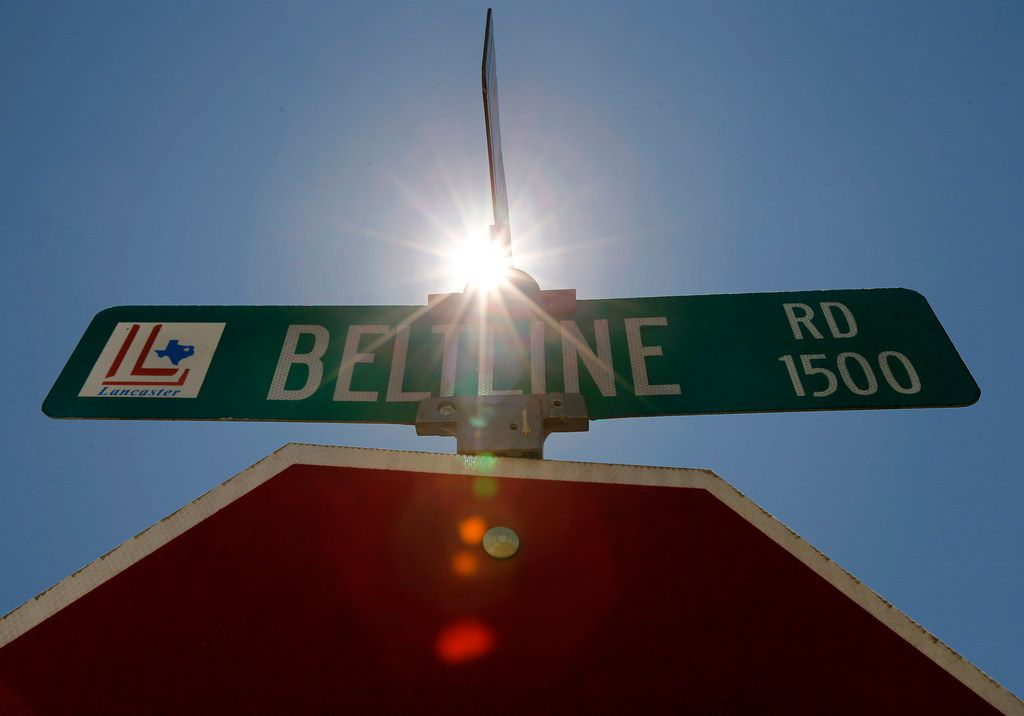 The hot summer sun shines over E. Belt Line Road in Lancaster, Texas, Wednesday, August 7, 2019. (Tom Fox/The Dallas Morning News)