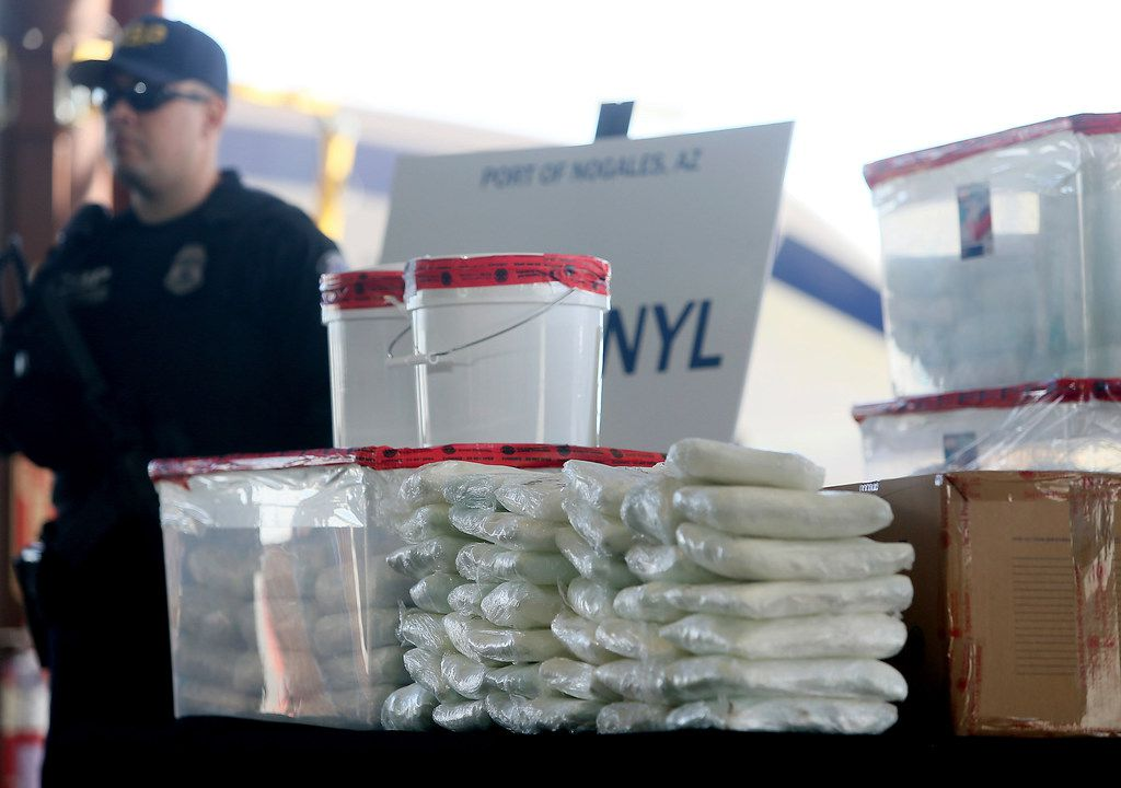 Fentanyl, seen here after being seized by Customs and Border Protection officers in Nogales, Ariz., is a synthetic opioid 80 to 100 times more potent than morphine.