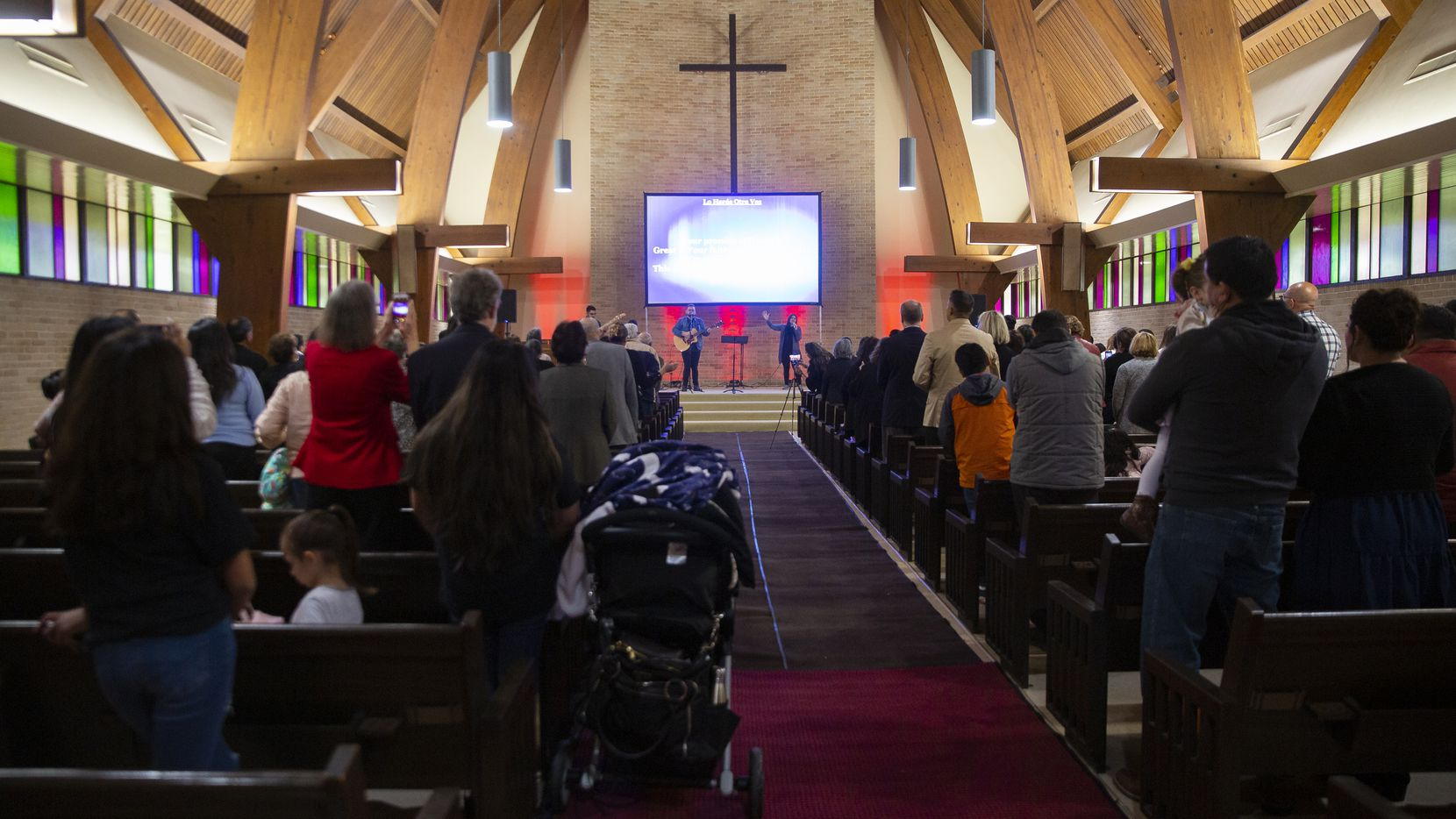 For the next year at least, Primera Iglesia Bautista —  the First Mexican Baptist Church — will worship in the former John Calvin sanctuary, thanks to the next-door da Vinci School.