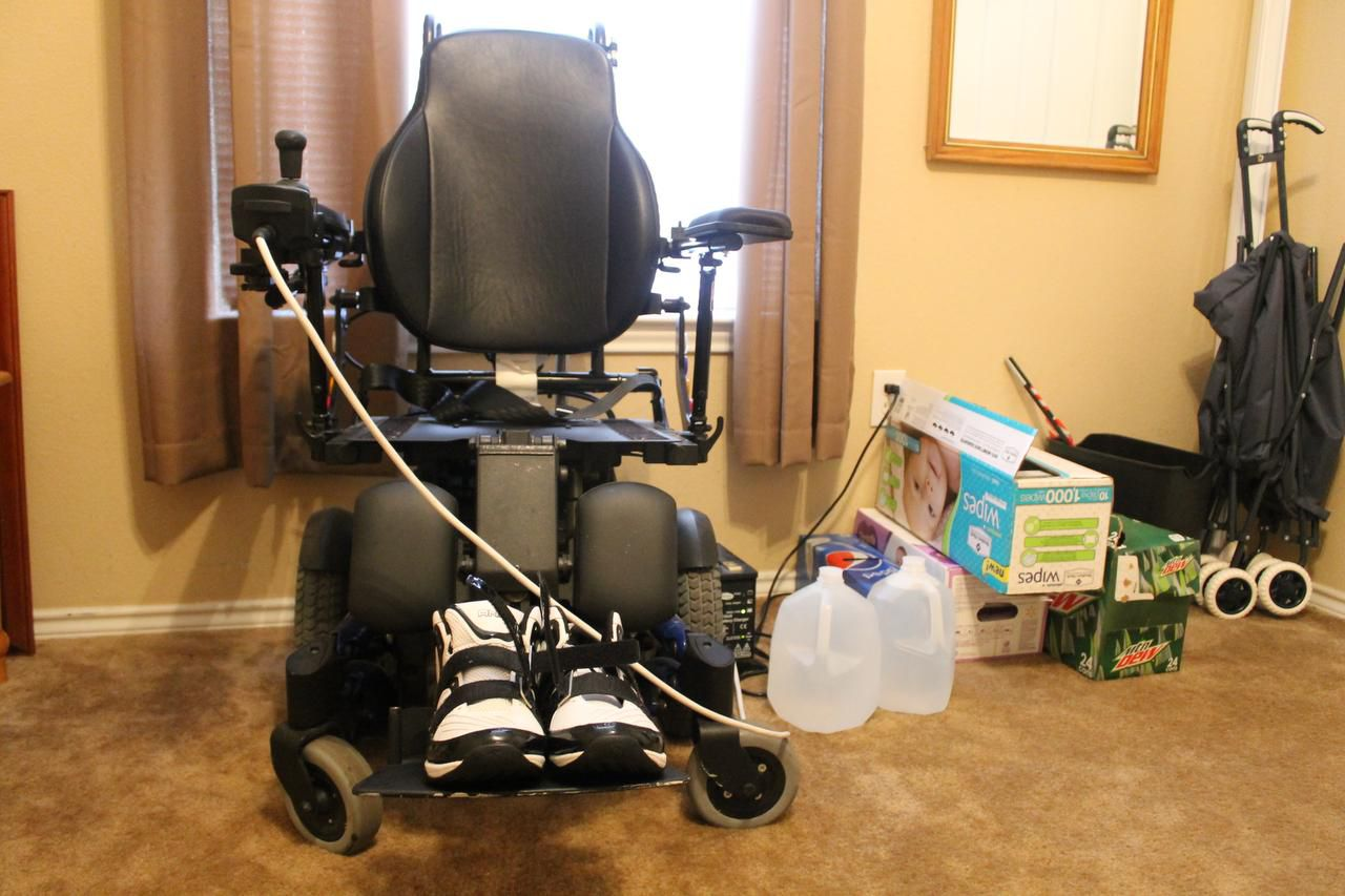 Shawn Koester's uses this electric wheelchair to get around when he gets out of the house. But, those days are fewer and fewer as he struggles to find reliable transportation and his muscle disease worsens.